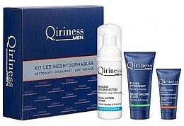 Парфюми, Парфюмерия, козметика Комплект за мъже - Qiriness Moisturizing Hydration KIT LES Incontournables (foam/50/ml+fluid/15/ml+gel/5/ml)