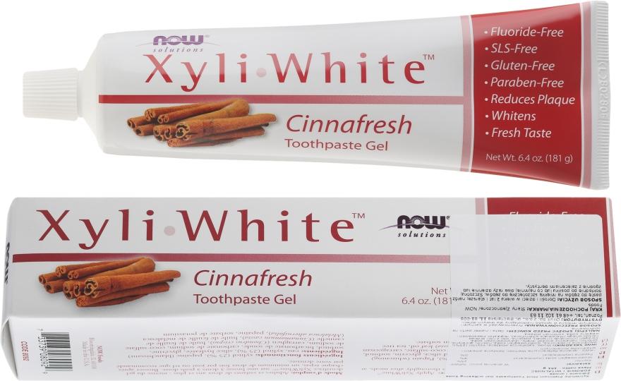 Паста-гел за зъби с канела - Now Foods XyliWhite Toothpaste Gel