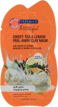 """Парфюми, Парфюмерия, козметика Глинена маска за лице """"Сладък чай и Лимон"""" - Freeman Feeling Beautiful Sweet Tea & Lemon Peel-Away Clay Mask (мини)"""