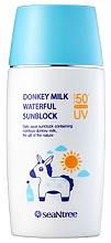 Парфюми, Парфюмерия, козметика Слънцезащитен крем с магарешко мляко - SeaNtree Donkey Milk Waterful Sun Cream SPF 50+ PA+++
