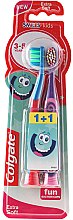 Парфюмерия и Козметика Комплект детски четки за зъби 3-5 год. - Colgate Smiles Kids Extra Soft