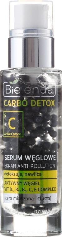 Серум за лице с въглен - Bielenda Carbo Detox Serum — снимка N1