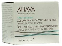 Парфюми, Парфюмерия, козметика Подмладяващ, овлажняващ и изравняващ тена на кожата крем SPF 20 - Ahava Age Control Even Tone Moisturizer Broad