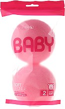 Парфюми, Парфюмерия, козметика Комплект розови гъби за баня, 2 бр. - Suavipiel Baby Soft Sponge