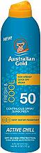 Парфюмерия и Козметика Слънцезащитен спрей - Australian Gold Fresh & Cool Continuous Spray Sunscreen Spf50
