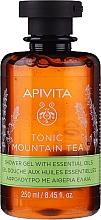 Парфюмерия и Козметика Душ гел с билков чай и етерични масла - Apivita Tonic Mountain Tea Shower Gel with Essential Oils