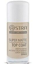 Парфюмерия и Козметика Матиращ топ лак - Astra Make-up Super Matte Top Coat
