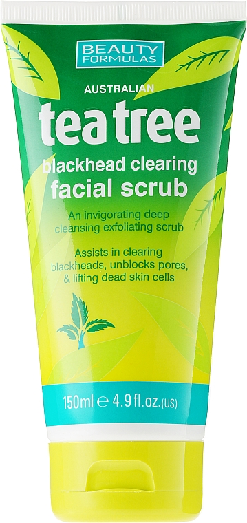 "Скраб за лице против акне ""Чаено дърво"" - Beauty Formulas Tea Tree Facial Scrub"