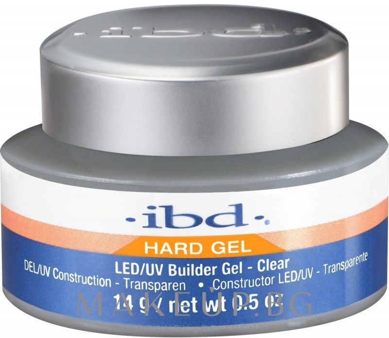 Конструиращ гел за нокти, прозрачен - IBD LED/UV Builder Clear Gel — снимка 14 g