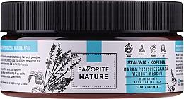 Парфюмерия и Козметика Маска за коса с градински чай и кофеин за ускорен растеж - Favorite Nature Hair Growth Accelerating Mask Sage & Caffeine
