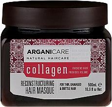 Парфюмерия и Козметика Маска за коса с колаген - Arganicare Collagen Reconstructuring Hair Masque