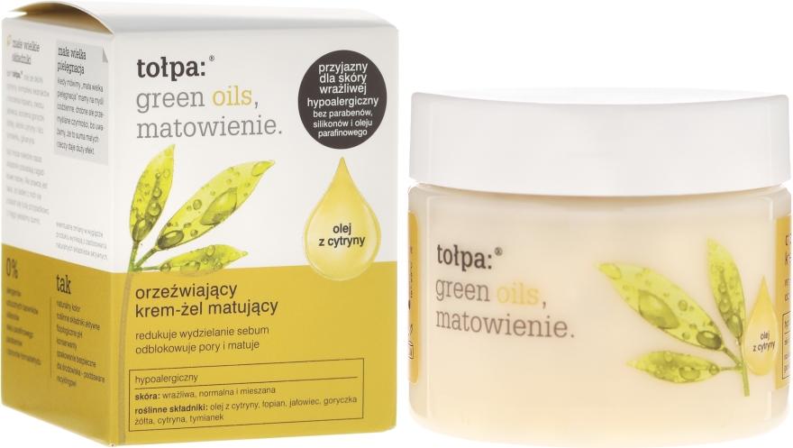 Матиращ крем-гел за лице - Tolpa Green Oils