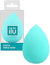 Парфюмерия и Козметика Гъба за грим, тюркоаз - Ilu Sponge Raindrop Turquoise