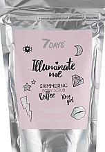 Парфюмерия и Козметика Блестящ кофеинов скраб за тяло - 7 Days Illuminate Me Shimmering Body Scrub
