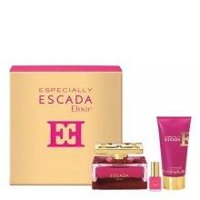 Парфюми, Парфюмерия, козметика Escada Especially Elixir - Комплект (edp 75ml + b/l 50ml + lacquer/4,5ml)