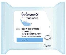 Парфюми, Парфюмерия, козметика Мокри кърпи за лице - Johnson's Daily Essential Nourishing Facial Cleansing Wipes