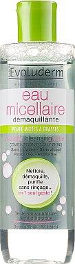 Почистваща мицеларна вода за комбинирана и мазна кожа - Evoluderm Soin du Visage Micellar Cleansing Water