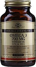 """Парфюмерия и Козметика Хранителна добавка """"Омега-3"""" 700 mg EPA & DHA, гел капсули - Solgar Double Strength Omega-3 700 mg EPA & DHA"""