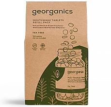 """Парфюмерия и Козметика Таблетки за почистване на устна кухина """"Чаено дърво"""" - Georganics Mouthwash Tablets Tea Tree (пълнител)"""