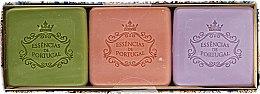Парфюмерия и Козметика Комплект сапуни - Essencias De Portugal Aromas Collection Autumn Set (soap/3x80g)