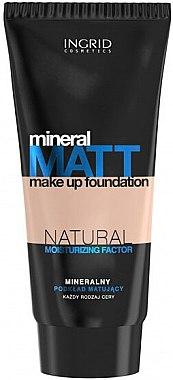 Матиращ фон дьо тен с минерали и натурални хидратиращи компоненти - Ingrid Cosmetics Mineral Matt Make Up Foundation — снимка N1