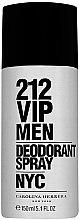 Парфюми, Парфюмерия, козметика Carolina Herrera 212 VIP Men - Дезодорант