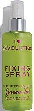 Парфюмерия и Козметика Фиксиращ спрей за грим - I Heart Revolution Fixing Spray Green Tea
