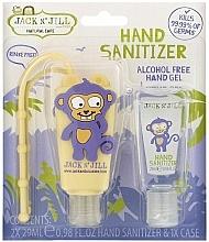 """Парфюмерия и Козметика Комплект антибактериални гелове за ръце """"Маймуна"""" - Jack N' Jill Hand Sanitizer (Monkey)"""