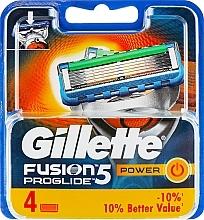 Парфюмерия и Козметика Сменяеми ножчета за бръснене, 4 бр. - Gillette Fusion ProGlide Power