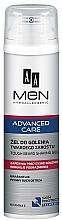 Парфюмерия и Козметика Гел за бръснене - AA Men Advanced Care Tough Beard Shaving Gel