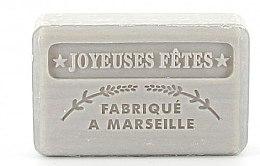Парфюмерия и Козметика Марсилски сапун - Foufour Argent Savonnette Marseillaise Joyeuses Fetes