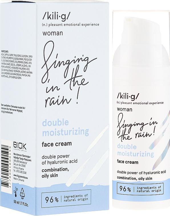 Крем за лице с овлажняващ ефект - Kili·g Woman Double Moisturizing Cream