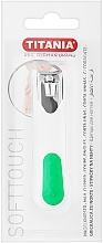 Парфюмерия и Козметика Нокторезачка, хромирана, бяла със зелено - Titania