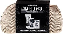Парфюми, Парфюмерия, козметика Комплект - Schmidt's Activated Charcoal Trio Selection (део/58ml + сапун/142g + паста за зъби/100ml + козм. чанта)