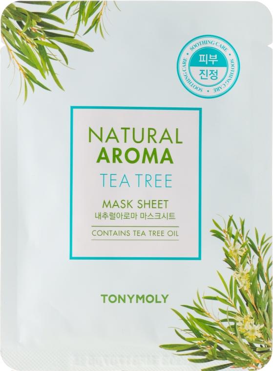 Маска за лице от плат с екстракт от чаено дърво - Tony Moly Natural Aroma Tea Tree Oil Mask