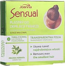 Парфюмерия и Козметика Депилиращи восъчни ленти за лице със зелен чай - Joanna Sensual Depilatory Face Strips With Green Tea Extract