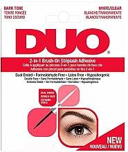 Парфюмерия и Козметика Лепило за изкуствени мигли 2в1 - Ardell Duo Adhesive 2in1 Lash Brush On Clear&Dark