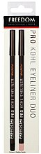 Парфюми, Парфюмерия, козметика Комплект моливи за очи - Freedom Pro Kohl Liner and Brighten Duo