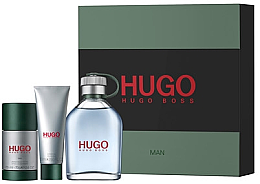 Парфюми, Парфюмерия, козметика Hugo Boss Hugo men - Комплект (тоал. вода/125ml+ део стик/75ml + душ гел/50ml)