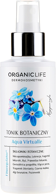 Тоник за лице - Organic Life Dermocosmetics Aqua Virtualle Moisturizing Botanical Tonic — снимка N1