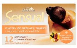 Парфюми, Парфюмерия, козметика Депилиращи восъчни ленти с бадемово масло за лице - Joanna Sensual Depilatory Face Strips