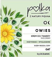 Парфюмерия и Козметика Подхранващ крем за лице - Polka Oat Face Cream
