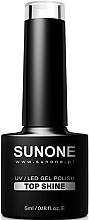 Парфюмерия и Козметика Топ за гел лак - Sunone UV/LED Gel Polish Top Shine