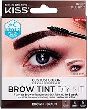 Парфюмерия и Козметика Боя за вежди - Kiss Brow Tint DIY Kit