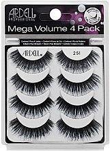 Парфюми, Парфюмерия, козметика Комплект изкуствени мигли - Ardell Mega Volume 4 Pack 251 Lashes (8бр)