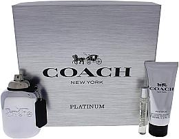 Парфюмерия и Козметика Coach Platinum - Комплект (парф. вода/100ml + парф. вода/7.5ml + душ гел/100ml)