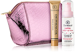 Парфюми, Парфюмерия, козметика Комплект - Dermacol (foundation/30g + makeup/base/30ml + bag)