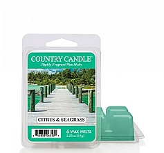 Парфюмерия и Козметика Ароматен восък - Country Candle Citrus & Seagrass Wax Melts