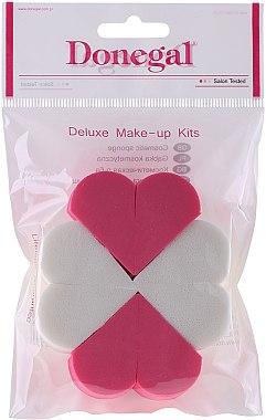 """Гъби за фон дьо тен от латекс, 9672, 8бр. """"Hearts"""" - Donegal Deluxe Make-Up Kits"""