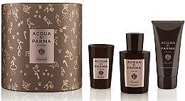 Парфюми, Парфюмерия, козметика Acqua di Parma Colonia Sandalo - Комплект (одеколон/100ml + душ гел/75ml + свещ/65g)